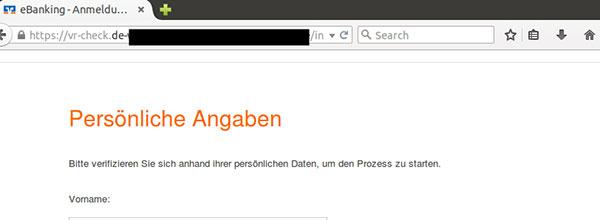 Phishing-Mail VR Mobile Check