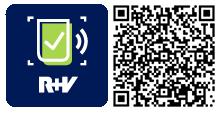 QR-Code für die App R+V-Scan